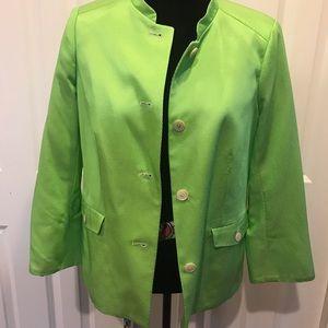 Bernard Zins Paris Lime Green Blazer